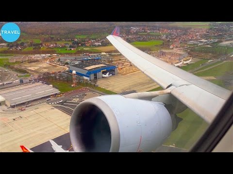 ENGINE ROAR! BRUSSELS AIRLINES A330-300 Takeoff from Brussels  - MAX VOLUME!