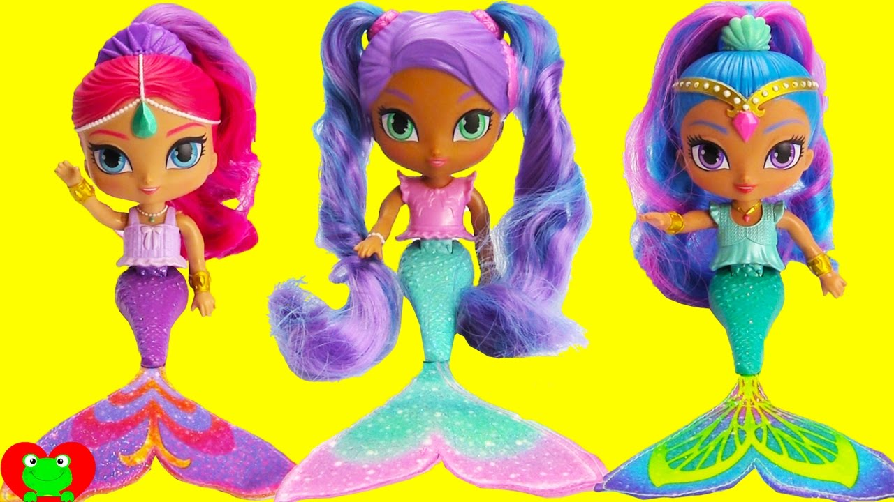 shimmer and shine nila color changing mermaids and surprises youtube