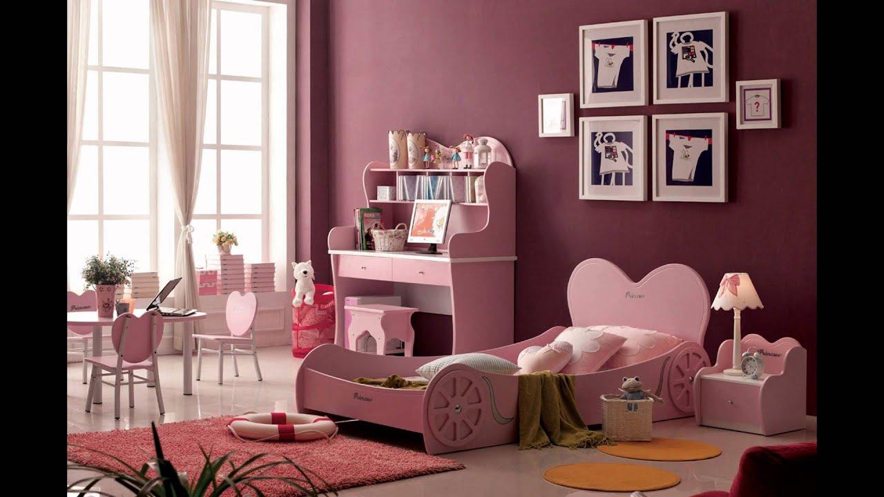 lovely pink bedroom ideas for girl - youtube