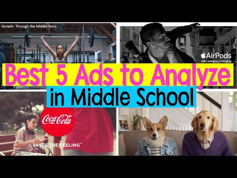 Top 5 Ads (commercials) to Analyze for Middle School