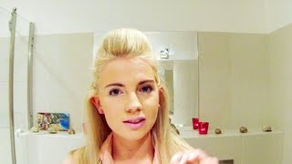 Podniesiona grzywka w stylu pin-up Modne Fryzury Hair Quiff Tutorial