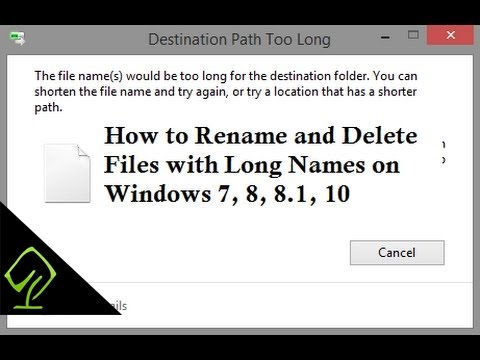 How to Rename and Delete Files with Long Names on Windows 7, 8, 8.1, 10  using Winrar or 7Zip