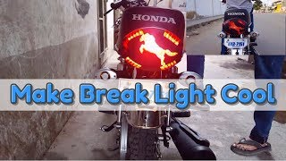 How to Modify Bike Back Light Part 2   Honda CG-125cc   D Modified
