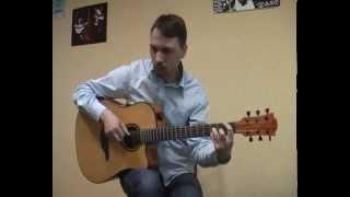 """""""Воины света"""" - Ляпис Трубецкой   соло кавер на гитаре В.Трощинков   уроки гитары Киев и Скайп"""