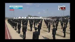 180313 Kim Junsu singing The national anthem.