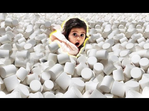 ELLE GETS STUCK IN 1 MILLION MARSHMALLOWS!!! (INSANE MARSHMALLOW POOL)