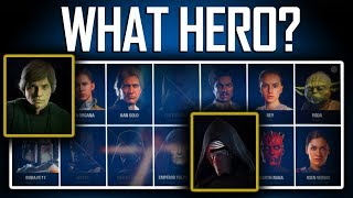 Star Wars Battlefront 2 - WHAT HERO SHOULD YOU PICK? (14 Heroes)