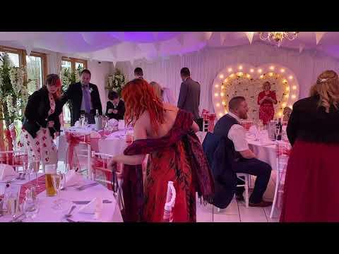 Inside Wedding Ceremony in Burgundy