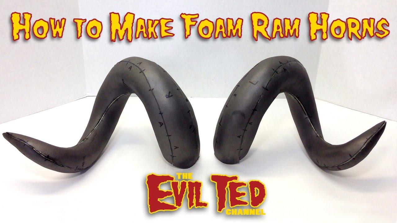 How To Make Foam Ram Horns Youtube