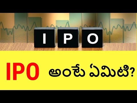 What is an IPO | Stock Market Basics for beginners in India. Telugubadi