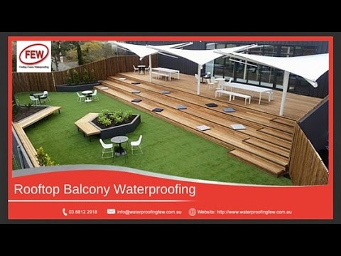 How To Waterproof A Rooftop   Roof Deck Waterproofing Membrane   YouTube