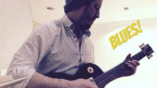 Blues Guitar lessons and videos. Modern Blues Guitar Solo Improvisation. Blues in A.