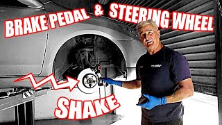 How to Diagnosis a Brake Pedal and Steering Wheel Shake on a 2006 Matrix