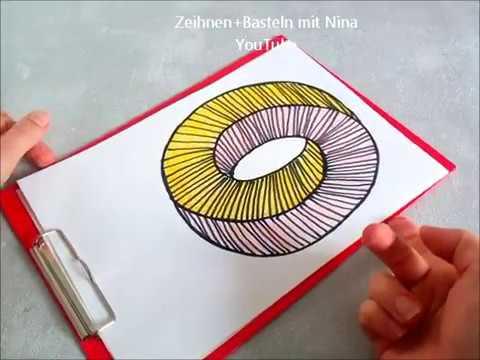 Optische Illusionen Optische Täuschungen Zeichnen Unmöglicher Ring