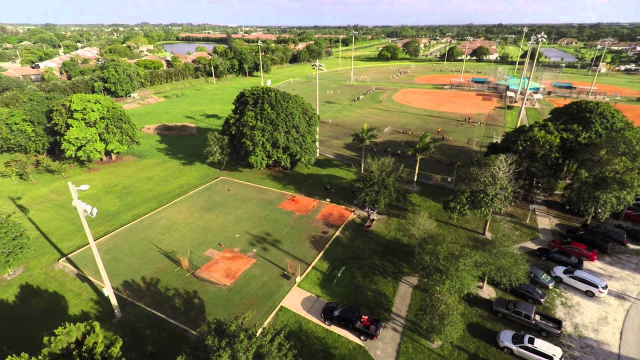 Drone Flying Over Bamford Sports Complex Davie FL