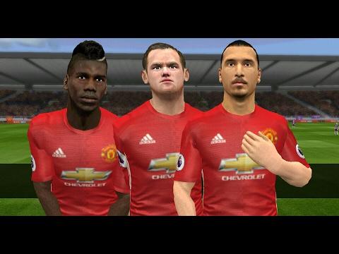 Plantilla Del Manchester United 2016-17   Caras & Faces Dream League Soccer  .