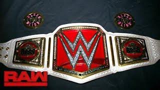 Sasha Banks' Raw Women's Title gets custom plates: Exclusive, Aug. 21, 2017