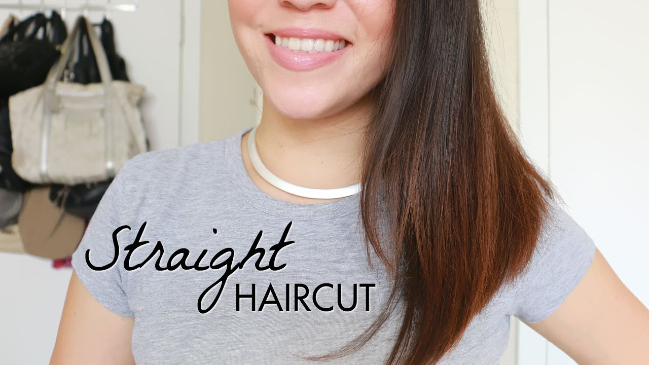 Straight Haircut Tutorial! 3 Ways To Cut Your Own Hair