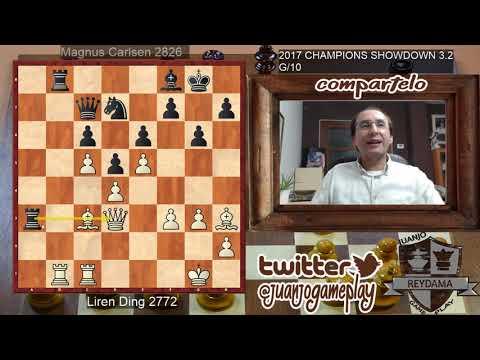 Liren Ding VS Magnus Carlsen #3.2 CHAMPIONS SHOWDOWN 2017, Partida rápida de 10 minutos por jugador