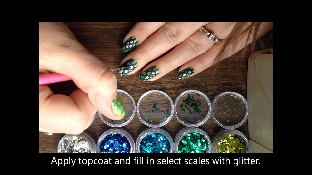 Fish scale nails tutorial youtube fish scale nails tutorial prinsesfo Choice Image