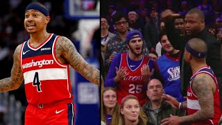 Isaiah Thomas Confronts Philly Fan And Gets Ejected From Game Wizard vs Sixers (MY REACTION)