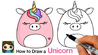 How to Draw a Unicorn  Squishmallow