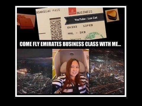 Come Fly Emirates Business Class With Me Manila Dubai Flight Hermes Tangle Teezer