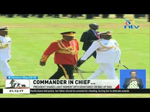President Kenyatta steals show in ceremonial military garb