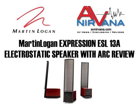 MartinLogan Expression ESL 13A Electrostatic Speaker with ARC Review