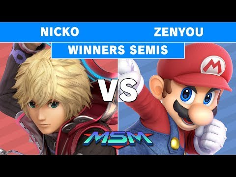 Smash Ultimate Tournament - MSM 178 FAD | Nicko (Shulk) vs Zenyou (Mario) Winners Semis thumbnail