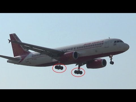 Rare sight ! Air India Airbus A320 with double bogey landing gears