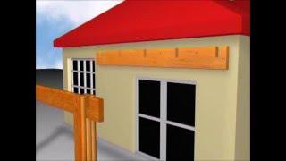 видео Пристройка небольшой террасы к дачному деревянному домику