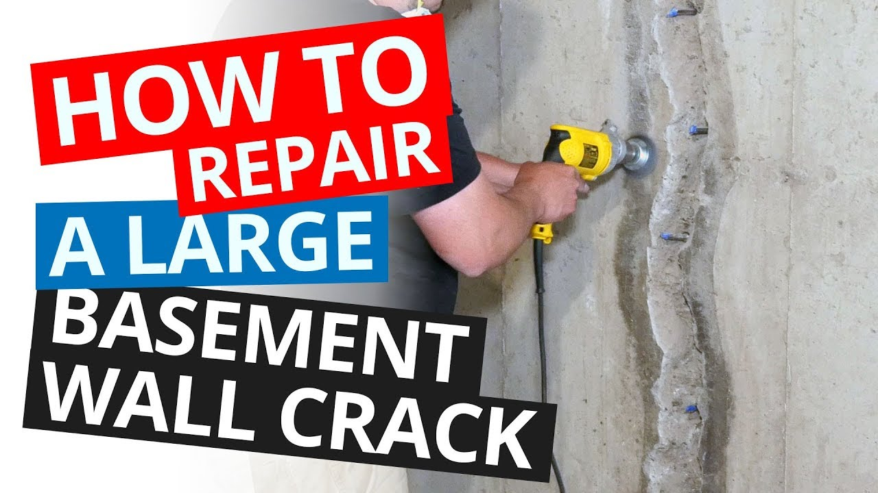 How to Repair a Large Basement Wall Crack  Stop a Leaking Wall Permanently