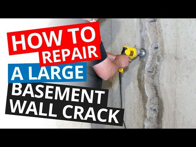 How to Repair a Large Basement Wall Crack | Stop a Leaking Wall Permanently