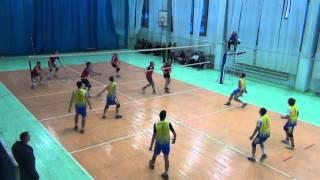 Городские соревнования, волейбол Школа №17, Иркутск 06.02.16 со школой №40 3_1-я партия