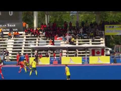 Australia 7 Beat Canada 0. Mens hockey at the Azlan Shah Cup in Ipoh