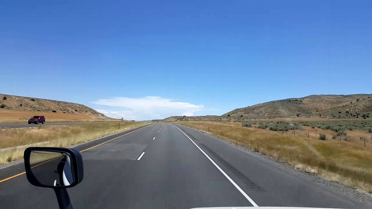Bigrigtravels Live! Snowville, Utah headed East on interstate 84 July 22,  2016