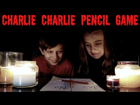 CHARLIE CHARLIE PENCIL GAME CHALLENGE