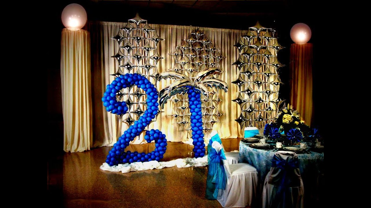 21st birthday decoration ideas diy youtube for 21st party decoration
