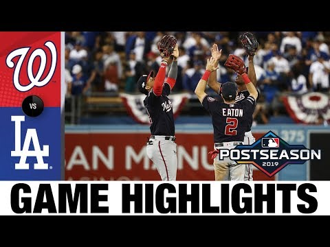 Strasburg, offense lead Nationals to Game 2 win | Nationals-Dodgers Game Highlights 10/4/19