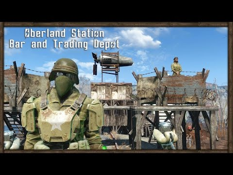 Fallout 4 BASE TOUR - OUTPOST BAR AND TRADE DEPOT