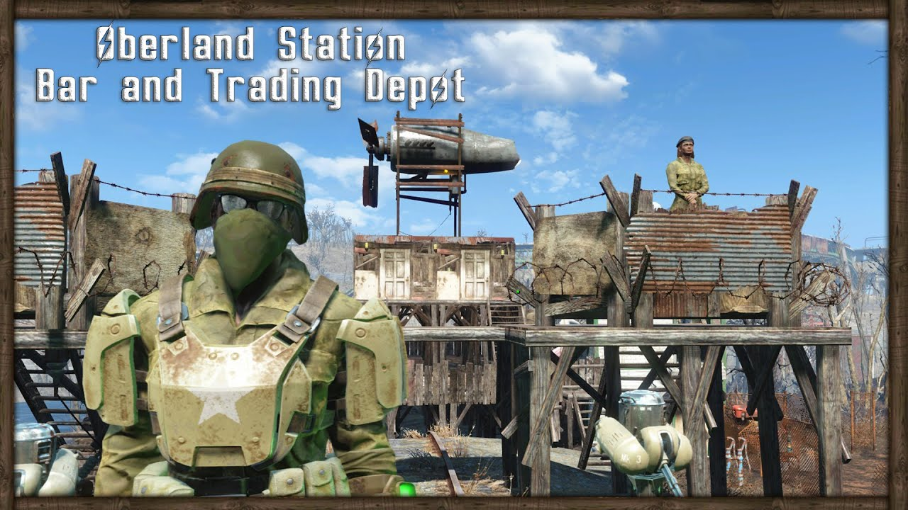 Trade Stands Fallout 4 : Fallout base tour outpost bar and trade depot youtube