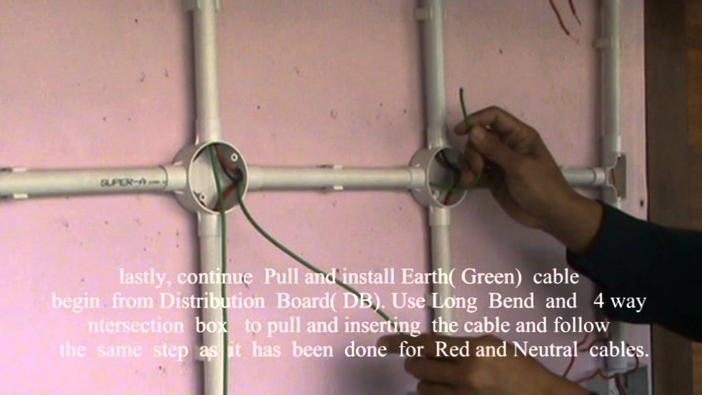 pvc conduit wiring installation created by ishak politeknik ibrahim rh youtube com pvc conduit concealed wiring system pvc conduit wiring accessories