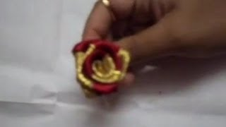 How to make a two colour satin rose