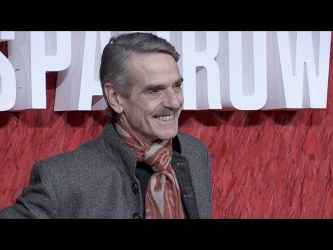 Jeremy Irons on the red carpet premiere of Red Sparrow in London