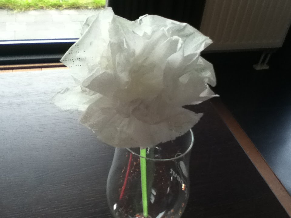 Ongekend How to make a beautiful flower of a tissue/ Hoe maak je een KG-06