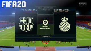 Check out this brand new fifa 20 gameplay of la liga by beatdown gaming on ps4. in match fc barcelona take rcd espanyol at el libertador! ► click her...