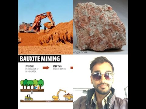 What happens before extracting bauxite mines?(Hindi)