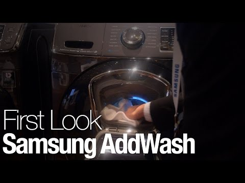 The Samsung AddWash Adds A Laundry Chute To The Washing Machine