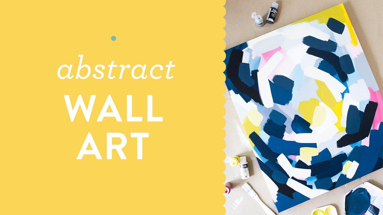 DIY Layred Abstract Wall Art Painting - YouTube